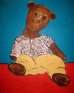 Painting of Bearsac sitting by Gina Bold
