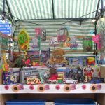 Bearsac on toy stall Bridge Street Market