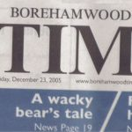 Banner of Borehamwod Times featuring Bearsac 2005