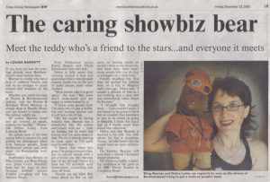 Photo of Bearsac article in the Borehamwood Times 2005