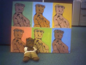 Andy Warhol style painting of Bearsac by Ellen Clifford