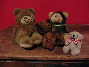 Group of girl teddy beas