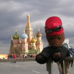 Bearsa in front of St Basil's Cathedral