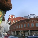 Bearsac beside chocolate factory