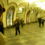Bearsac at ornate metro station