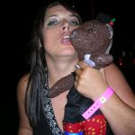 Jayne Kitt kissing Bearsac