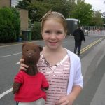 Lorna Fitzgerald (as child) holding Bearsac