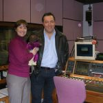 Kat.herine Boyle and Roberto Perrone with Bearsac in studio.