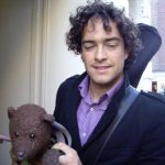 Lee Mead holding Bearsac