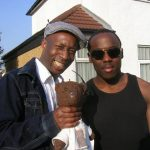 Actors Joe Joseph Kpobie and Mo George with Bearsac