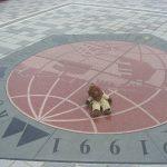 Bearsac on floor plaque at Kobe Rokko Island Marine