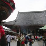 Bearsac beside Sensoji Temple