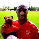 Chris Whyte holding Bearsac