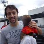 Ralf Little holding Bearsac