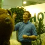 Monty Don in background, Bearsac in foreground.