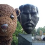 Bearsac's head beside Sofia Stefan Stambolov head monument