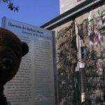 Bearsac beside the remains of the Berlin Wall.