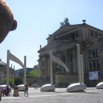 Bearsac in Gendarmen Square with giant musical notes