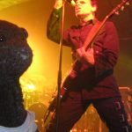 Bearsac in front of Gary Numan at a gig
