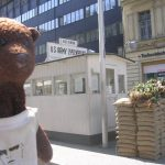 Bearsac beside CheckPoint Charlie