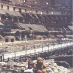 Bearsac and Rizla inside the Colosseum
