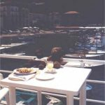 Bearsac and Rizla lunching at Marina Grande
