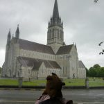 Bearsac in foreground of Killarney Cathedral
