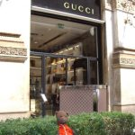Bearsac outside Gucci