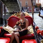 Debra and Bearsac on a gondola
