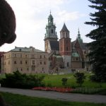 Bearsac beside Wawel Royal Castle