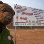 Bearsac by Cafe Tennis Arsenal sign