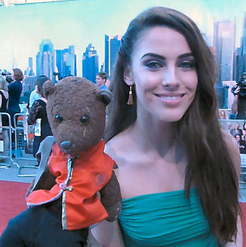 Jessica Lowndes holding Bearsac