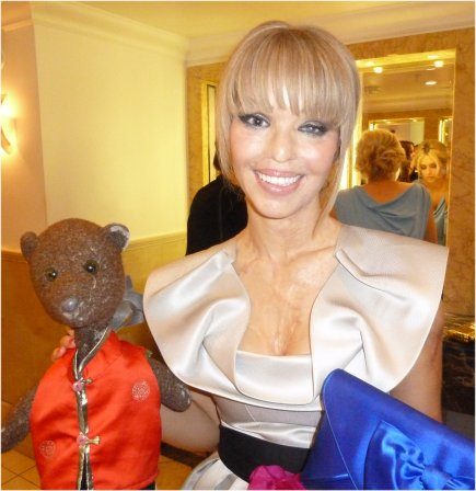 Katie Piper holding Bearsac